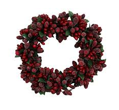 berry wreath 6 inch christmas beaded berry wreath candlering
