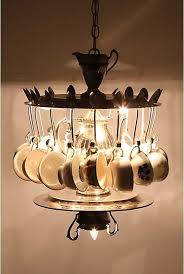 Cutlery Chandelier 15 Awesome Ways To Repurpose Old Kitchen Items Part 2