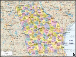 Atlanta Area Map Geoatlas Countries Georgia Map City Illustrator Fully