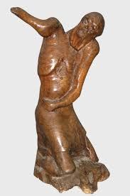 Sculpture En Bois D Olivier A Poirson Le Cri Antiquités Catalogue