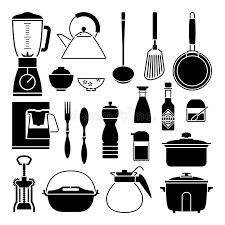 outil cuisine silhouette de vecteur de collection d outil de cuisine illustration