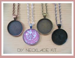 diy necklace images 25pc diy circle pendant tray necklace kit 25mm includes jpg