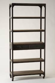 Rolling Bookcases Furniture Home Images About Industrial Bookcases Shelves With On