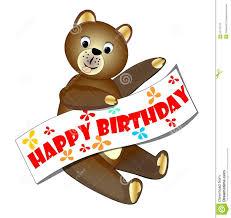 happy birthday teddy bear stock vector image 52713775