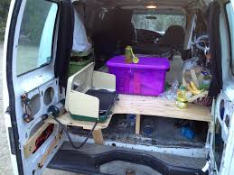build a bed in the back of your van 4 steps with pictures