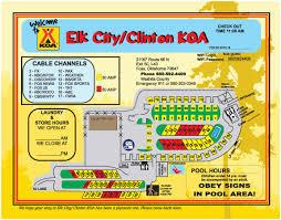 Okc Zip Code Map Foss Oklahoma Campground Elk City Clinton Koa