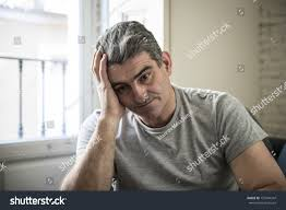 grey hair in 40 s 40s 50s sad worried man grey stock photo 757244347 shutterstock