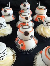starwars cakes wars bb 8 cupcakes baking mischief