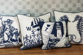 decoration nautical home decor in family room furnished with sofa