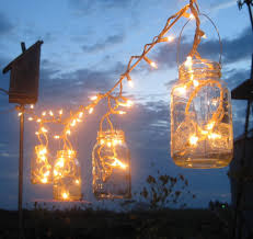 outdoor hanging patio lights backyard outdoor lighting ideas with diy mason jar candle holder