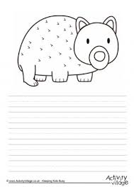 wombat coloring pages 79048 rghost