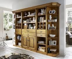 bibliothek wohnzimmer wohnwand bibliothek kiefer wildeiche massiv wohnzimmer system