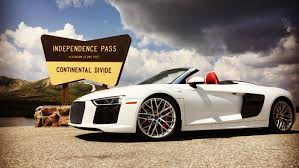 pink audi r8 the new audi r8 v10 spyder weaves its way through aspen u2013 robb report