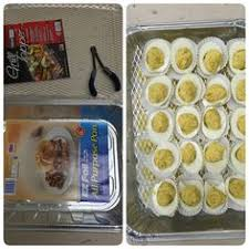 deviled egg carrier deviled eggs transport put them in cupcake sleeves for serving and