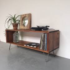 Hairpin Legs Los Angeles by Stanton Record Player Stand Lp Vinyl Storage Cabinet Console