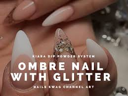 ombre nails youtube tutorial faded ombre nails with glitter