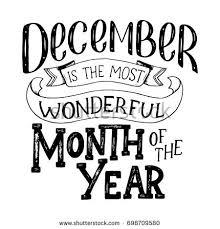 december inspirational quote typography calendar poster stock vector
