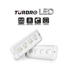 turbro 20w 2 pack led light bar spreader light deck marine lights ster
