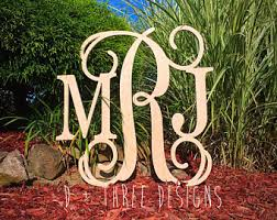 Monogram Letters Home Decor D Three Designs By Dplusthreedesigns On Etsy