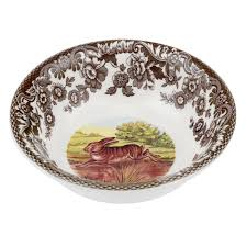 dining spode woodland rabbit mini bowl with spode woodlands china