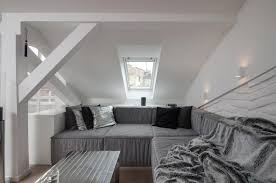 attic loft modern attic loft with grey palette in prague idesignarch