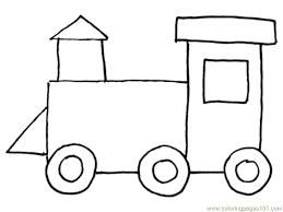 train clipart coloring template pencil color train