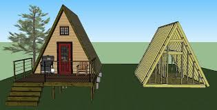 a frame house plans with garage a frame cabin plans simple solar homesteading