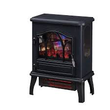Electric Fireplace Stove 3d Infrared Quartz Electric Fireplace Stove Black Walmart