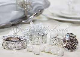 jewelry box favors 12 gold silver oval plastic trinket box wedding favor table