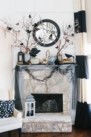 fireplace decoration glamorous halloween fireplace decorations 58 in home interior