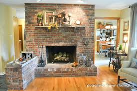 brick wall fireplace update how vertical wood planks interior