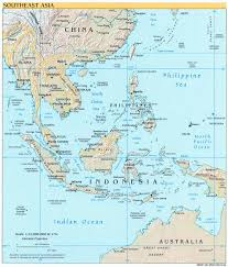 Physical Maps Southeastern Asia Physical Map 2002 Full Size