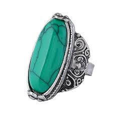 stone rings style images 2018 adjustable antique silver turquoise stone rings for men jpg