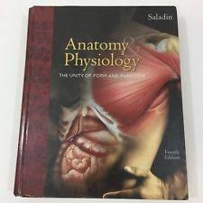 Saladin Anatomy And Physiology 6th Edition Online Anatomy Physiology Saladin 6th Ebay