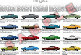 mustang models by year pictures 1969 ford mustang model chart poster grande gt mach 1 3