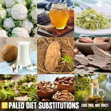 27 paleo diet food substitutions use this not that