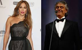 Opera Singer Blind Bocelli Jennifer Lopez And Andrea Bocelli Record Spanish Duo Together