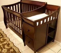 Baby Cribs With Changing Table Attached Baby Crib With Changer Ggregorio