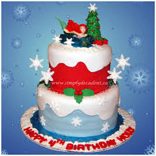 2 tier fondant ariel little mermaid christmas winter