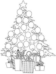 coloring page of christmas tree with presents christmas tree with presents coloring pages getcoloringpages free