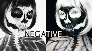 negative skull makeup halloween oceansofblood youtube