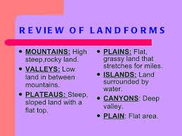 landforms ppt