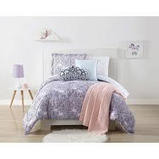 Unicorn Bed Set Unicorn Princess Printed Purple Xl Comforter Set Cs2119txl