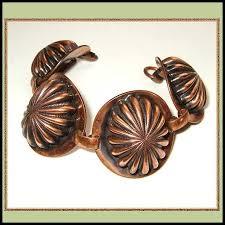 antique copper bracelet images Copper bracelet rare big shell design 1940s german vintage jewelry jpg