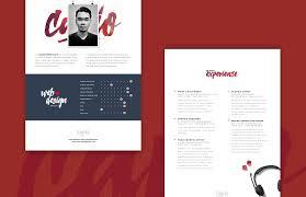 nice web designer resume template free psd download web designer