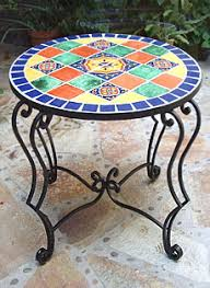 Tile Bistro Table Kristi Black Designs Tiled Furniture Miscellaneous Items