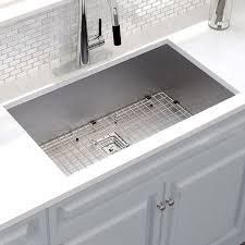 undermount kitchen sink kraus pax 31 x 18 undermount kitchen sink with drain assembly