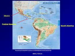 map of mexico south america america three regions mexico central america caribbean