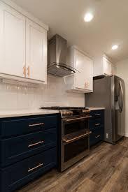 what color hardware for navy cabinets navy copper kitchen remodel jarrell signature