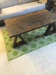 ana white saw horse inspired coffee table diy projects